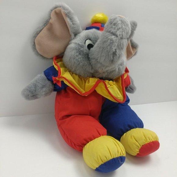 Vintage Hugfun Plush Elephant Clown Suit